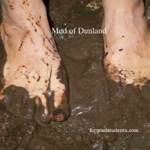 Mud of Dunland shows feet stuck in gooey mud