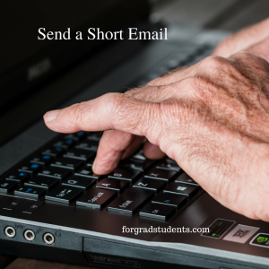 Person typing on computer sending an email