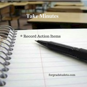 Note pad and Pen taking minutes and recording action action items