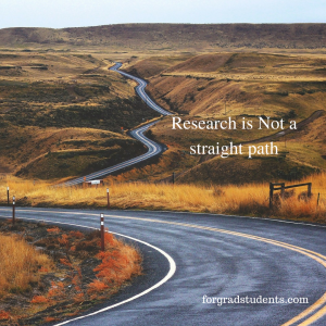 Picture of a winding road - Research is not a straight path